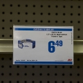 Clear Covered-Face Sign Holder, Center Shelf Mount