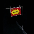 Premium Clip-On Banner Holder Side Bar