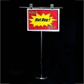 Premium Countertop Banner Holder with Round Base